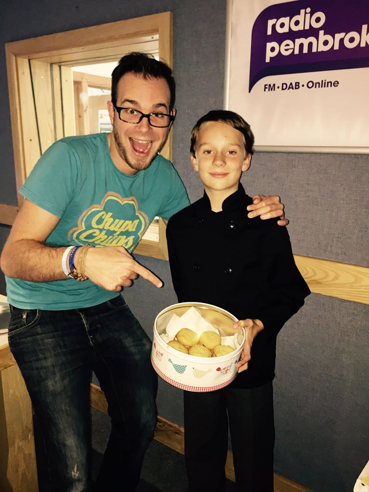Dylan with Toby Ellis from Radio Pembrokeshire