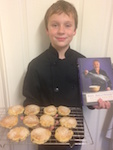 Dylan with some home baked Welsh Cakes